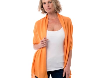 Orange Cashmere Wrap/Orange Candy 100% Cashmere Wrap