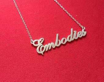 Custom necklace name necklace any name can be made, personalized jewelry