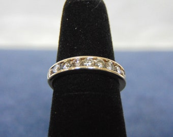 Womens Vintage Estate 14k Yellow Gold Diamond Baguette Ring 2.5g #E2191
