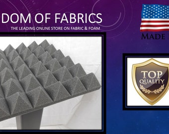 "Pyramid Acoustic Foam (Single) 2"" 24"" x 24"" 2' x 2' covers 4 sq Ft - SoundProofing/Blocking/Absorbing Acoustical Foam - Made in the USA!"