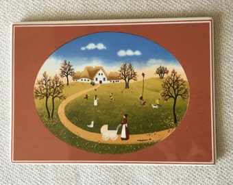 Porcelain Postcard by Villeroy & Boch Autumn, design by Wilma Langhammer