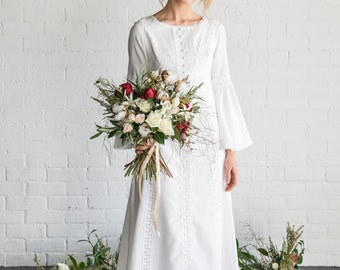 RAINA - 1970s vintage wedding dress