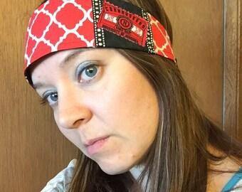 Husker Headband, Nebraska Headband, Boho Headband, Bling Headband