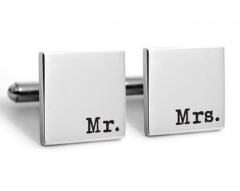 Groom Wedding Cufflinks, Stainless steel with engraved personalized date for lovers, custom, customized, dated, heirloom