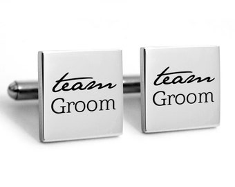 Groomsmen Cufflinks, Stainless steel for the grooms man,  Groomsmen Gifts, gifts, mementos
