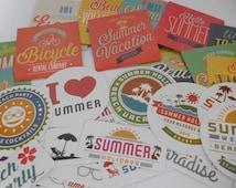 Hello Summer Sticker Set 40 pieces