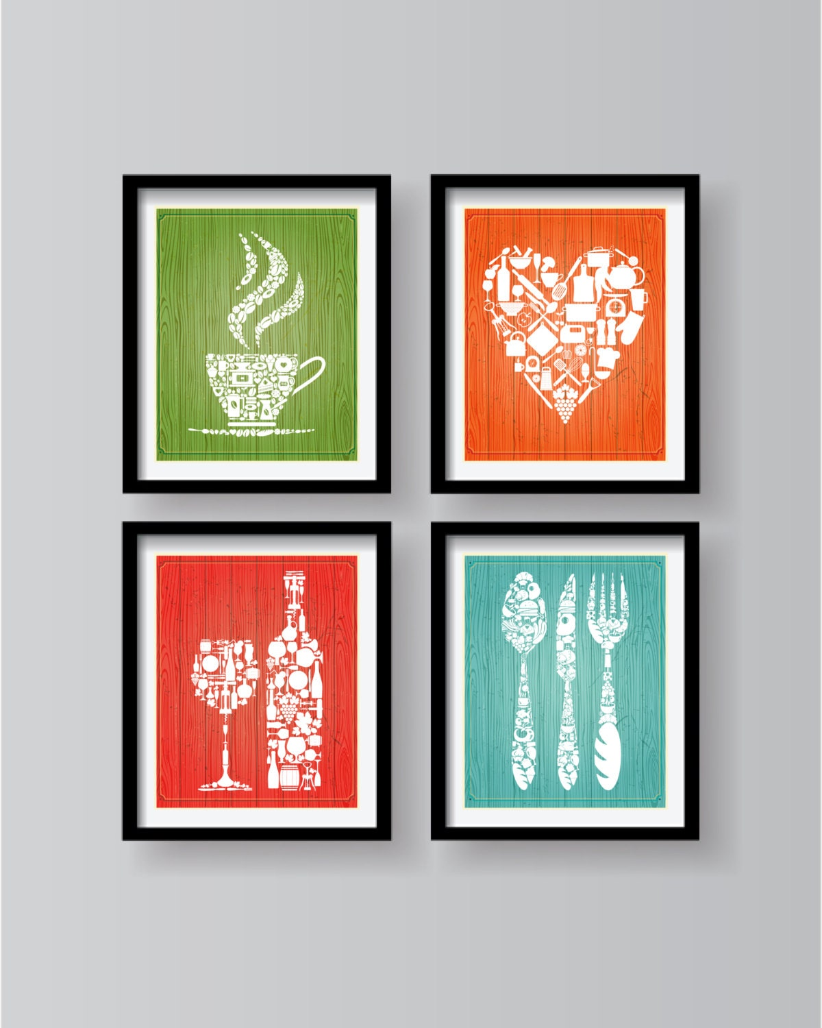 Colorful Kitchen Wall Art: Old Colorful Wood Style Background Kitchen Decor Kitchen Wall