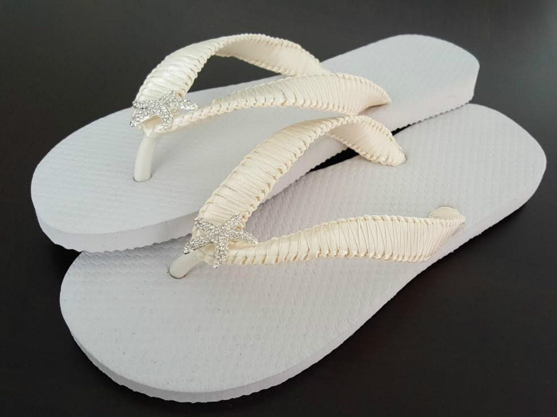 Starfish Bridal Flip Flops Cariris Flip Flops Ivory Flip-4222