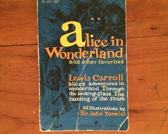 1960 Alice in Wonderland and other favorites, Lewis Carroll, illustrated by Sir John Tenniel, Alice in Wonderland book, vintage book