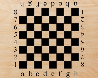 Wall Decals Stickers Chessboard Checkers Board 12 - 19  inches