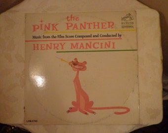 The Pink Panther Vinyl Record Album, Film Music Score by Henry Mancini, 1963, RCA Victor , Henry Mancini and His Orchestra
