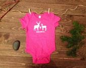 FLASH SALE **** Deer Baby Bodysuit, Deer Hunting Baby One Piece,  Baby Hunting Bodysuit - Pink -  Daddy's Little Hunting Princess