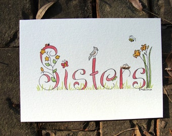 Sisters example 5x7