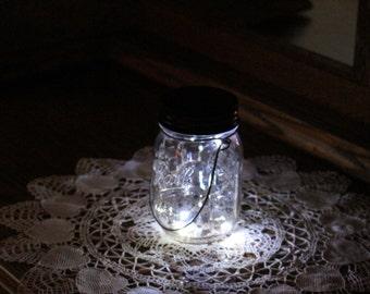 Mason Jar Solar Lid Light - Twinkling Clear - Angel Lights - Firefly Lights - fairy lights, solar fairy lights, mason jar solar light