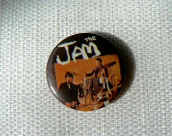 Vintage Early 1980s The Jam - Paul Weller - Mods - Pin / Button / Badge