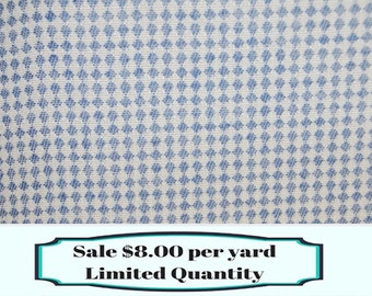 FABRIC SALE!!! Blue and White Diamond Upholstery Fabric, Upholstery Fabric By The Yard