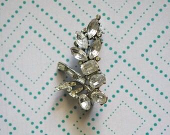 Vintage RHINESTONE Costume Jewelry Sparkling Brooch Broach Pin