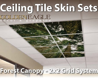 Ceiling Tile Skin Glue Up White Washed Knotty Pine Wood
