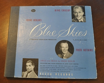"""Antique Fred Astaire & Irving Berlin's  """"Blue Skies"""""""