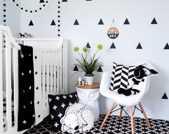 Large Triangles (Pack of 30) Removable Vinyl Wall Art Sticker Decals