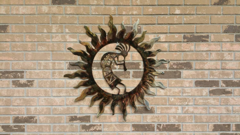 Hanging Outside Wall Decor : Kokopelli fertility wall hanging outdoor metal art