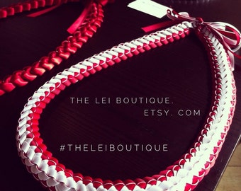 The Red & White Grosgrain Lei
