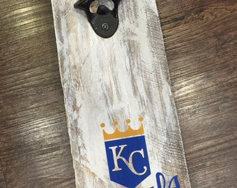 KC Royals Vintage Style Wall Mounted Bottle Opener