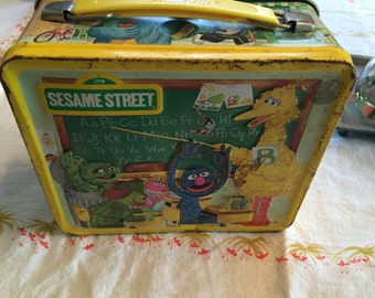 Vintage sesame street lunch box