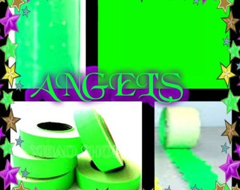 10 pc of roll adhesive labels for green fluorescent labeler
