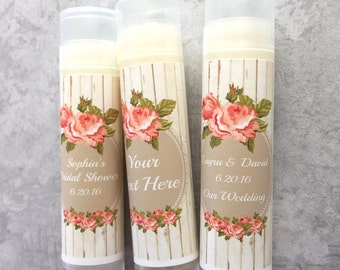 Shabby Chic Rustic Vintage Blooms Wedding Party Favors/Wedding/Bridal/Lip Balm/Engagement Party/Wedding Chapstick/Bridal Shower/Groo