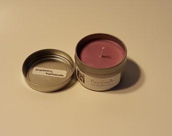 Cranberry Marmalade Tin Candle