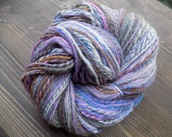 Handspun Yarn, Hand Dyed Yarn, 100% Polwarth Wool, Olive Green Pink Purple Blue White Cream Orange Brown