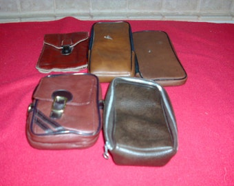 Vintage lot of 5 camera bags