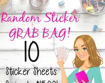 Sticker Surprise GRAB BAG! 10 Random Sticker Sets!