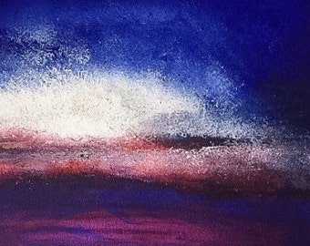 Abstract Acrylic Sky Sunset Art Painting
