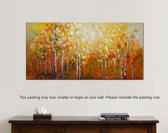 Oil Painting, Wall Art, Canvas Art, Forest Painting, Original Art, Landscape Painting, Abstract Oil Painting, Abstract Art, Canvas Painting