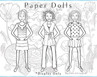 download and color your own paper dolls and fashion clothing version a
