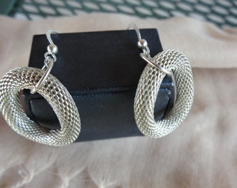 Earrings,Stylish Mesh Circle Earrings