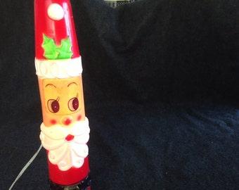 RARE Vintage Empire Blow Mold skinny light-up Santa