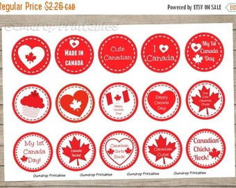 30%OFF Buy 3 Get 1 Free Canada Day 1 Inch Circles Bottlecap Images ~ Instant Download ~ Canadian Chicks Rock Printable Image Sheet CD_124