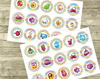 30%OFF Shopkins Season 4 Bottle Cap Images ~ 2 Sheets ~ Instant Download ~ Toys ~ Bottlecap ~ Digital Images ~ Buy 3 Get 1 FREE ~ SH-963
