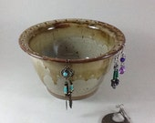 Jewelry Organizer, Pottery Jewelry Bowl, Earring Holder