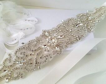 Wedding Belt, Bridal Belt, Sash Belt, Crystal Rhinestone Belt, Style 183