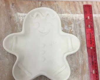 Ceramic Bisque Gingerbread Plate Ready To Paint