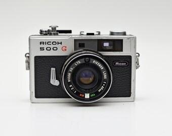 Vintage RICOH 500 G 35mm Compact Rangefinder Film Camera