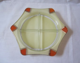 Art Deco Relish made by Indiana Glass