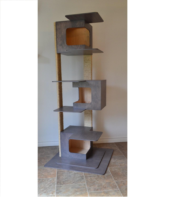 arbre chat moderne 3 modules par huve par huvecollection sur etsy. Black Bedroom Furniture Sets. Home Design Ideas