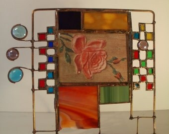 Multicolor Stained Glass Picture Frame
