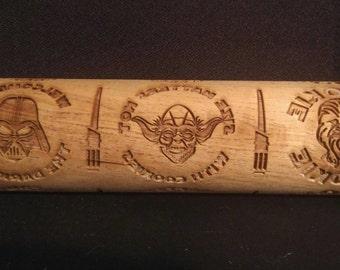 Darth, Yoda, and Chewie Rolling Pin