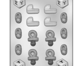 Baby Shower Assortment Chocolate Candy Mold With Exclusive FlavorTools  Copyrighted Chocolate Molding Instructions 90 11587